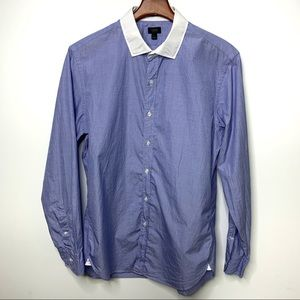 J. CREW Blue Cotton Ludlow Button Down Shirt Sz L